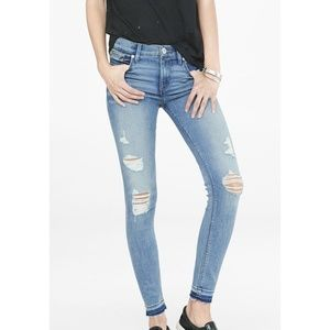 NWOT Express Distressed Ripped Knee Skinny Jeans